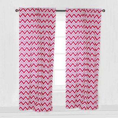 Bacati MixNMatch Pink Zigzag Curtain Panel