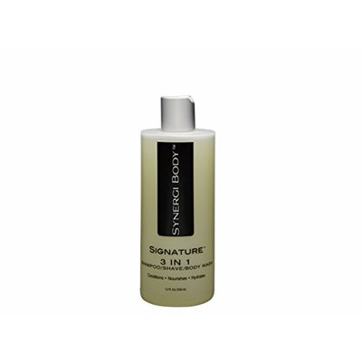 3 in 1 Shampoo/Shave/Bodywash with Hydrolyzed Vegetable Protein, Vitamins B5 & E, Jojoba, Willow Bark and 10 Antioxidants for Healthy Hair, Scalp & Skin and a Smooth Shave. Sulfate-Free. 12 Fl. Oz.