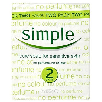 Simple Pure Soap for Sensitive Skin (2x125g)