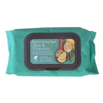 Morgan Miller Aloe & Vitamins Facial Cleansing, Makeup Remover Wipes, 60 counts