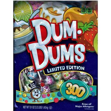 Spangler Dum Dums Lollipops Candy Limited Edition Flavors, 300 Pops (51 Ounces) Bag