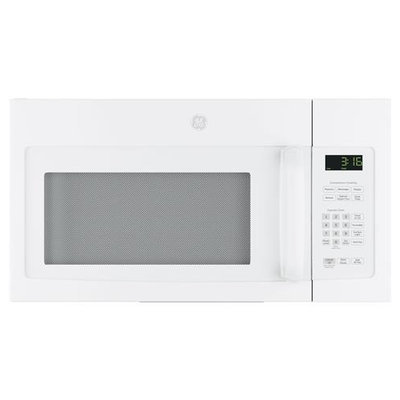GE JVM3162DJWW 1.6 Cu. Ft. White Over-the-Range Microwave