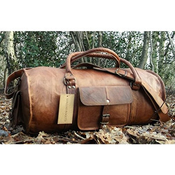 HAND-CRAFTED SHABBY CHIC TRAVEL LEATHER WEEKEND BAG HOLDALL OVERNIGHT RUSTIC DUFFEL