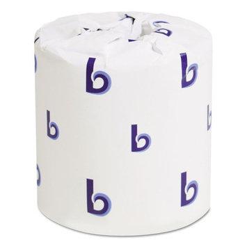 Boardwalk Regular Roll Toilet Paper White 1-Ply Bulk Toilet Tissue, 4.