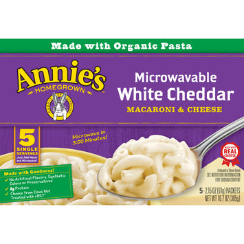 Annie's Macaroni & Cheese, White Cheddar Microwavable Mac and Cheese, 10.7oz