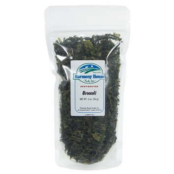 Harmony House Foods Dried Broccoli, Flowerets (2 oz, ZIP Pouch)