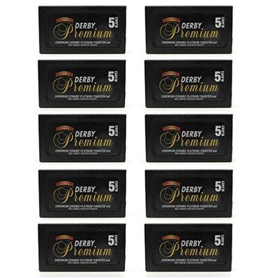 Derby Premium Super Stainless Double Edge Razor Blades, 50 Count + FREE Makeup Blender