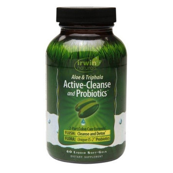 Irwin Naturals Active-Cleanse & Probiotics, Soft-Gels 60.0 ea(pack of 2)