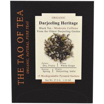The Tao of Tea, Organic Darjeeling Heritage, 15 Pyramid Sachets, 1.32 oz (37.5 g) [Flavor : Darjeeling Heritage]