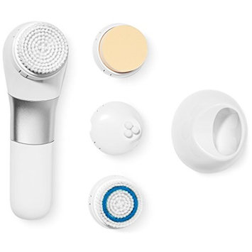 L'Core Paris Face and Body Brush Cleansing System – Exfoliating Facial Brush Microdermabrasion Pore Minimizer to Clean Skin, Help Get Rid of Acne, Dark Spots and Blackheads