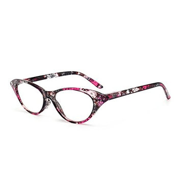 ForHe Reading Glasses with Colorful Frames, Ladies' Vintage Cat Eye Readers