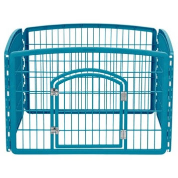 IRIS 4-Panel Pet Pen with Door, Chrome
