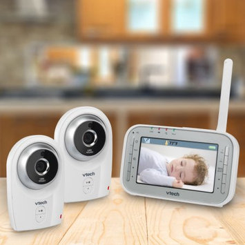 VTech VM341-2 Digital Video Baby Monitor with 2 Cameras and Automatic Night Vision, White