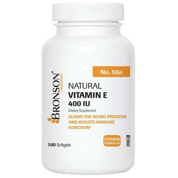 Bronson Vitamin E 400 I.U. Natural, 100 Softgels