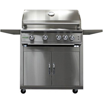 Hanover Grills 32-In. 4-Burner Natural Gas Grill with Cart