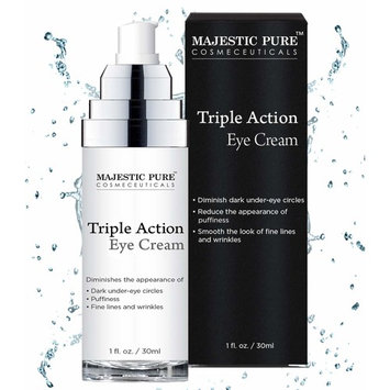 Eye Cream for Appearance of Under Eye Dark Circles, Puffiness, Fine Lines and Wrinkles - Triple Action Formula Soothes and Rejuvenates with Arnica and Vitamin K - 1 fl. oz.