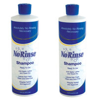 Johnson Smith (Set/2) No Rinse! Shampoo 16 Oz Bottles Wash Hair W/O Water Travel Emergency