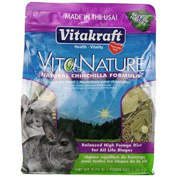 Vitakraft VitaNature Chinchilla Food - Natural Timothy Formula, 2.75 lb.