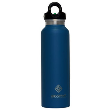 RevoMax Twist Free Insulated Stainless Steel Water Bottle with Standard Mouth, 20 oz, Jewelry Blue