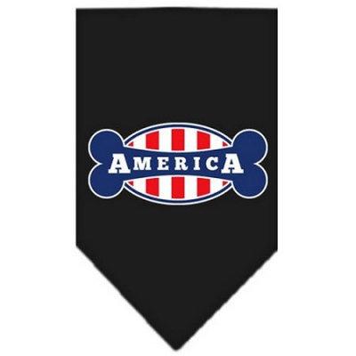 Ahi Bonely in America Screen Print Bandana Black Large