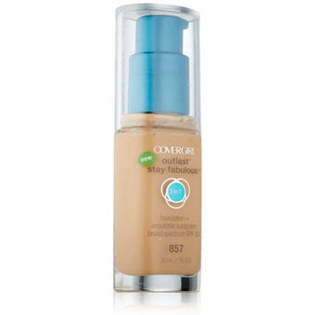 COVERGIRL Outlast All-Day Stay Fabulous 3-in-1 Foundation, Golden Tan, 1 fl oz (30 ml)