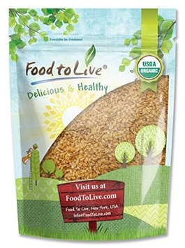 Food To Live ® Certified Organic Whole Golden Flaxseed (Raw, Non-GMO, Bulk Flax Seed) (8 Ounces)
