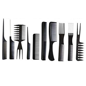 Tonewear Compact & Professional Styling Hairdressing Barbers Combs Set (Black)