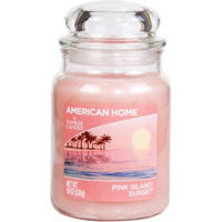 American Home by Yankee Candle Pink Island Sunset, 19 oz Large Jar Candle