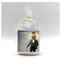 October Vase Candle Refill 50 Hour Burn Time Premium Soy Paraffin Wax Blend Highly Scented Self-Trimming Wick