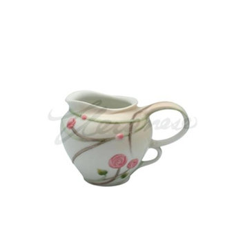 Unicorn Studios AP20305AA Porcelain Creamer with Roses Buds Leaves Stems White