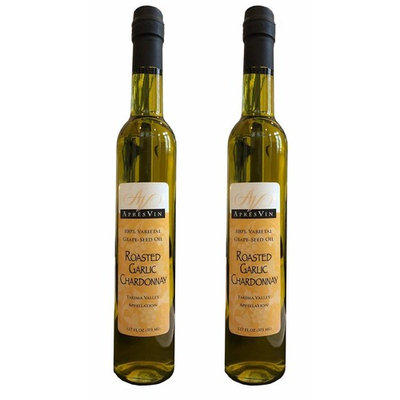 Apres Vin Roasted Garlic Chardonnay Grape Seed Oil - 375ml - 2 Pack