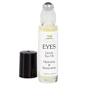 Isabella's Clearly EYES. Best High Density Eye Serum to Hydrate, Illuminate, Firm. Anti Aging Oil reduces fine lines, dark circles, puffiness. All Natural w/Avocado, Coconut, Vitamin E. 0.3 Oz
