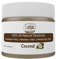 BEST All Natural Lavender Deodorant, by Carolina Soap Works   2 Ounce Jar/60 Day Supply   NO Aluminum, NO Parabens   For Men and Women of All Ages   Non-GMO, BPA Free
