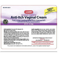 Leader Anti-Itch Vaginal Cream Max Strength 1 Oz (3 Pack)