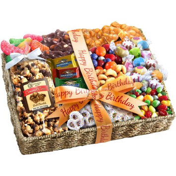 Golden State Fruit Birthday Party Gift Basket, 12 pc