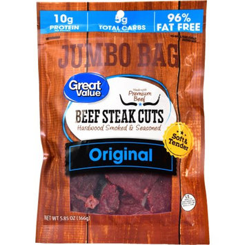 Wal-mart Stores, Inc. Great Value Beef Strips, Protein Snack, Original, 5.85oz