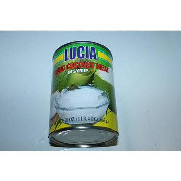 Lucia Young Coconut Meat in Syrup Pack of Four 565g a Can