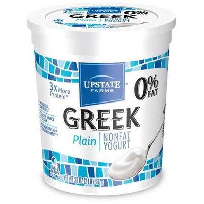Upstate Farms Greek Nonfat Blended Plain Yogurt, 32 Ounce - 6 per case.