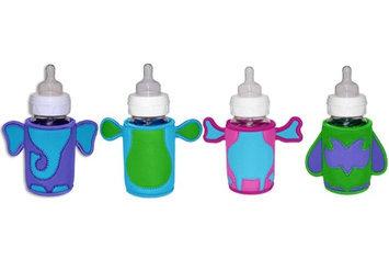 KidKusion Bottle-Bud Drink Koozie 4 Pack- Elephant, Monkey, Giraffe, & Owl