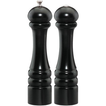 Chef Specialties 10500 10 Inch - 26cm ImperialEbony Pepper Mill Salt Shaker Set