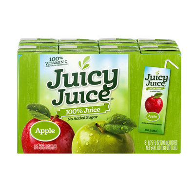 (32 Juice Boxes)Juicy Juice Apple, 6.75 Oz-$0.05/Oz