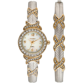 Women's Watch and Bangle Set, Two Tone