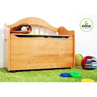 KidKraft Limited Edition Toy Box with Casters Natural