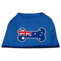 Ahi Bone Shaped Australian Flag Screen Print Shirts Blue Lg (14)