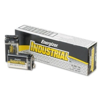 Energizer(R) 9-Volt Alkaline Industrial Batteries, Box Of 12in.
