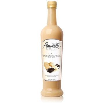 Amoretti Premium Syrup, White Chocolate Vanilla, 25.4 Ounce