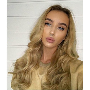 Zenith Comfortable Wearing & Light Weight Brown Roots Ombre Honey Blonde Lace Front Wigs for Women 24 inches Long Blonde Hair Natural Looking Synthetic Wavy Lace Front Wig