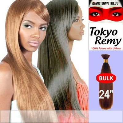 TOKYO REMY BULK 24 inch (Motown Tress) - Yaky Protein Hair Blend Bulk in P4_27