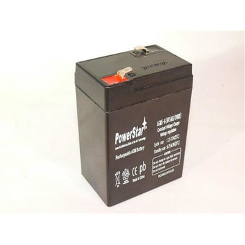 PowerStar AGM5-6-04 6V, 5Ah Rechargeable Battery For Alarms, ATVs And Motorcycles