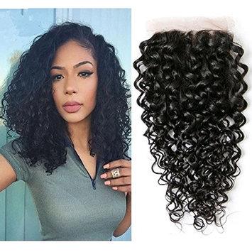 Water Wave Virgin Hair Closure Unprocessed lace closure 4